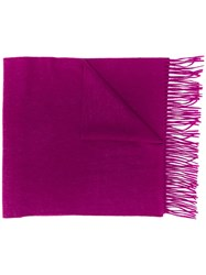 N.Peal Large Woven Cashmere Scarf Pink
