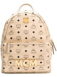 Mcm Triologie Stark Backpack Neutrals