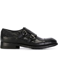 Silvano Sassetti Distressed Monk Strap Shoes Black