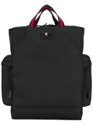 Gucci Techno Canvas Drawstring Backpack Men Polyester One Size Black