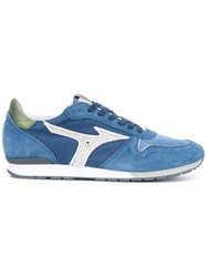Mizuno Etamin Blue Sneakers Men Cotton Leather Polyester Rubber 40