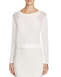 Romy And Ray Ozzi Mesh Shoulder Sweater Ecru