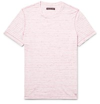 Michael Kors Slim Fit Space Dyed Knitted Cotton T Shirt Red