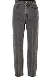 Ksubi Chlo Wasted High Rise Straight Leg Jeans Gray