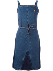 Walter Van Beirendonck Vintage Denim Spaghetti Strap Dress Blue