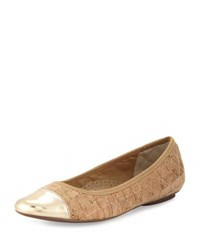 Neiman Marcus Saucy Quilted Cork Flat Multi