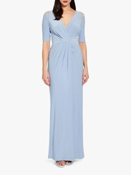 Adrianna Papell Jersey Maxi Dress Ice Blue