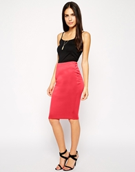 Ax Paris Pencil Skirt Coral