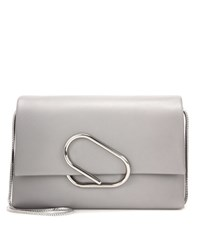 3.1 Phillip Lim Alix Soft Flap Leather Shoulder Bag Grey