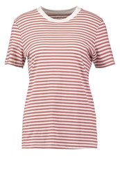 Selected Femme Sfmy Perfect Print Tshirt Burlwood Mauve