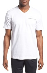 Men's Under Armour Charged Cotton Loose Fit V Neck Shirt White