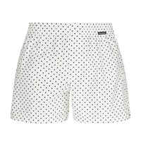 Dolce And Gabbana Polka Poplin Lounge Shorts Male White