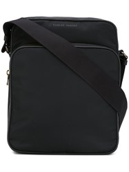 Tomas Maier Classic Messenger Bag Men Cotton Leather Nylon One Size Black