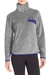 Patagonia Women's 'Re Tool' Snap Pullover Tailored Grey Nickel Blue