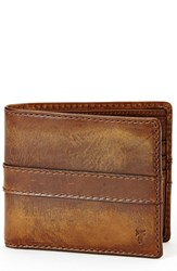 Frye Men's 'Oliver' Leather Billfold Wallet Brown Smoke