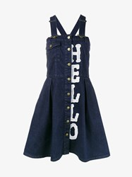 House Of Holland Denim Dungaree Dress Blue