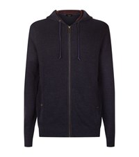 Ted Baker Rider Knitted Hoodie Male Blue