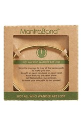Mantraband Women's Not All Who Wander Are Lost Engraved Cuff Gold