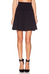 Susana Monaco High Waist Flare Skirt Black