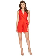 Adelyn Rae Jinni Woven Romper Red Women's Jumpsuit And Rompers One Piece