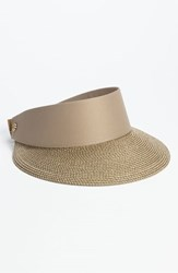 Eric Javits Women's 'Squishee Champ' Custom Fit Visor Beige Gold Sand