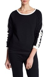 Alternative Apparel Long Sleeve Stripe Pullover Black