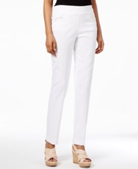 Jm Collection Studded Pull On Pants Only At Macy's Bright White