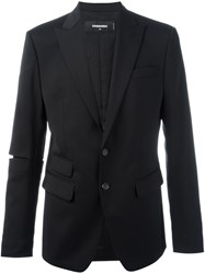 Dsquared2 Cut Out Sleeve Jacket Black