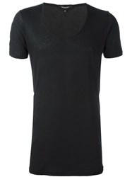 Unconditional Deep U Neck T Shirt Black