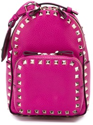 Valentino Garavani 'Rockstud' Backpack Pink And Purple