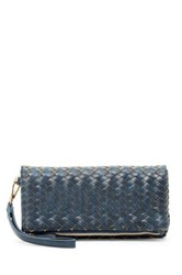 Urban Expressions Dixie Faux Leather Wristlet Clutch Blue