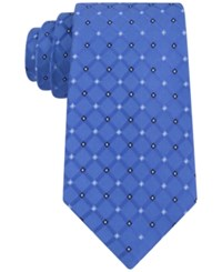 Club Room Men's Grid Neat Tie Only At Macy's Royal Blue