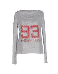Patrizia Pepe Topwear Sweatshirts Women Light Grey