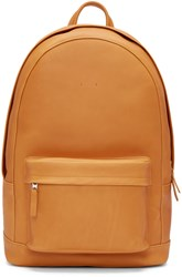 Pb 0110 Camel Leather Ca 6 Backpack