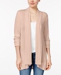 Style And Co Petite Open Front Cardigan Only At Macy's Crushed Peach