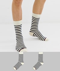 Selected Homme 2 Pack Stripe Socks Multi