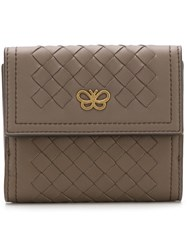 Bottega Veneta Butterfly Intrecciato Wallet Brown