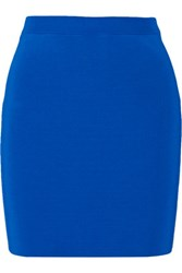 Alexander Wang T By Stretch Ribbed Knit Mini Skirt Bright Blue