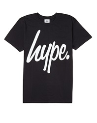 Hype. Black T Shirt With White Script
