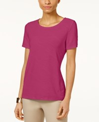 Jm Collection Jacquard T Shirt Only At Macy's Steel Rose