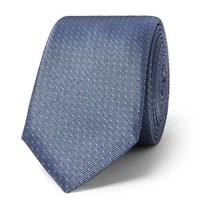 Hugo Boss 6Cm Pin Dot Silk Twill Tie Navy
