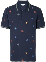Gieves And Hawkes Crown Print Polo Shirt Blue