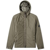C.P. Company Arm Lens Filled Hooded Jacket Green