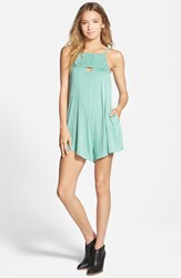 Junior Women's Rvca 'Caliber' Woven Detail Romper