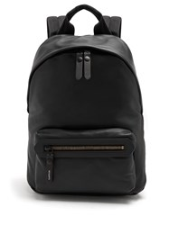 Lanvin Smooth Grained Leather Backpack Black