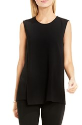 Vince Camuto Women's Front Overlay Shell Rich Black