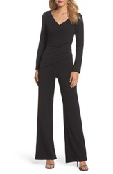 Adrianna Papell Women's Ruched Jumpsuit Black