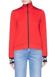 Proenza Schouler Pswl Graphic Cuff Track Jacket Red