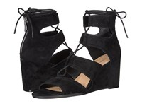 Chinese Laundry Raja Black Kid Suede Women's Wedge Shoes