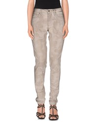 Twin Set Simona Barbieri Denim Denim Trousers Women Beige